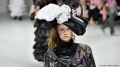 Designers send models down Paris runway in garbage bags